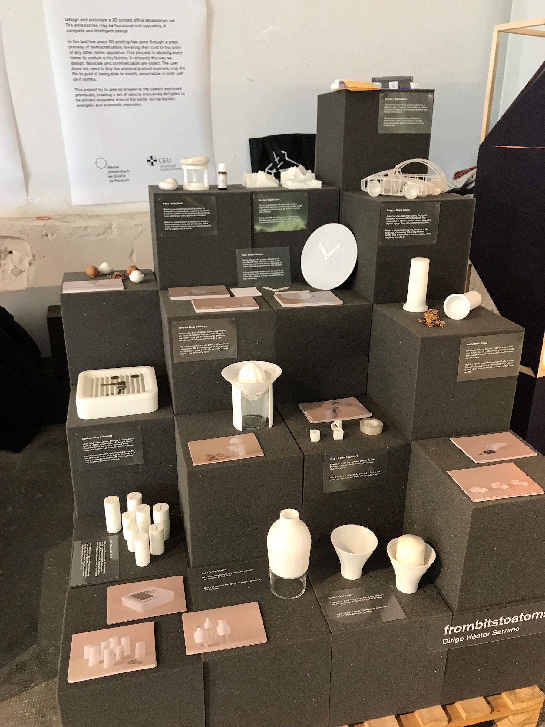 Los diseños para impresión 3D de los estudiantes de la CEU UCH, en en el BASE Milano Ventura Future de la Milan Design Week.