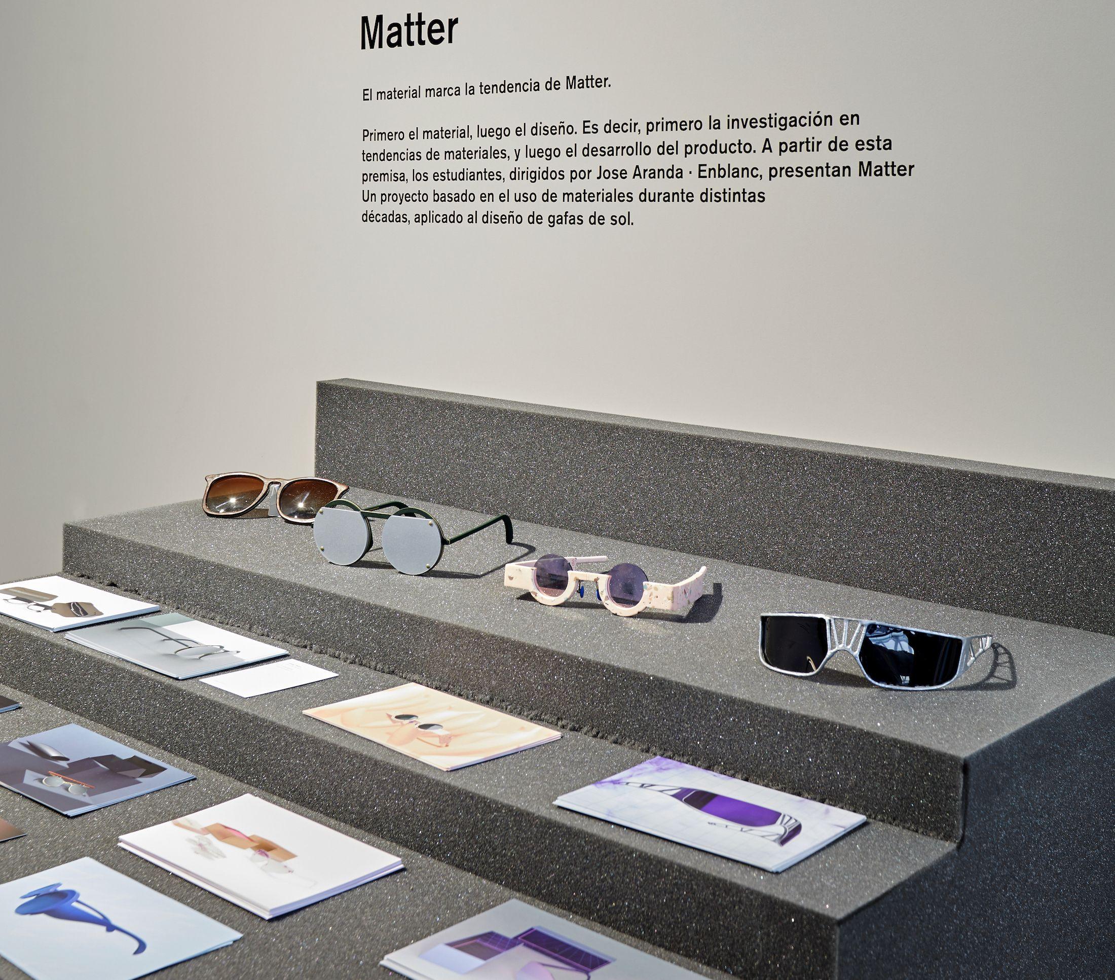 Diseños Matter, impresos en 3D, de los estudiantes del Máster en Diseño de Producto del CEU.