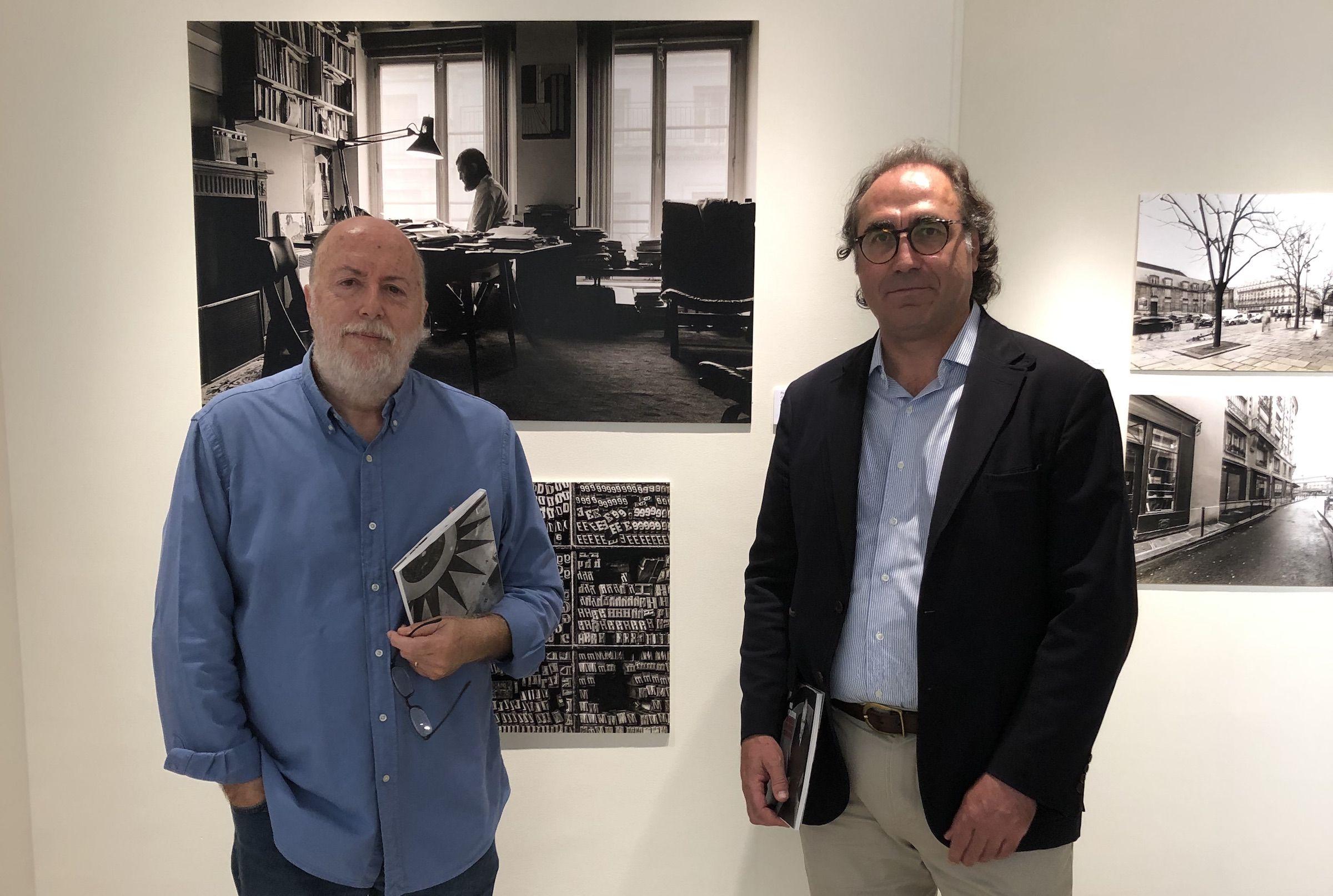 EL catedrático de Literatura Española Miguel Herráez, y el profesor Santiago Celestino han recuperado el archivo gráfico inédito que ahora se expone en el Colegio de España en París.