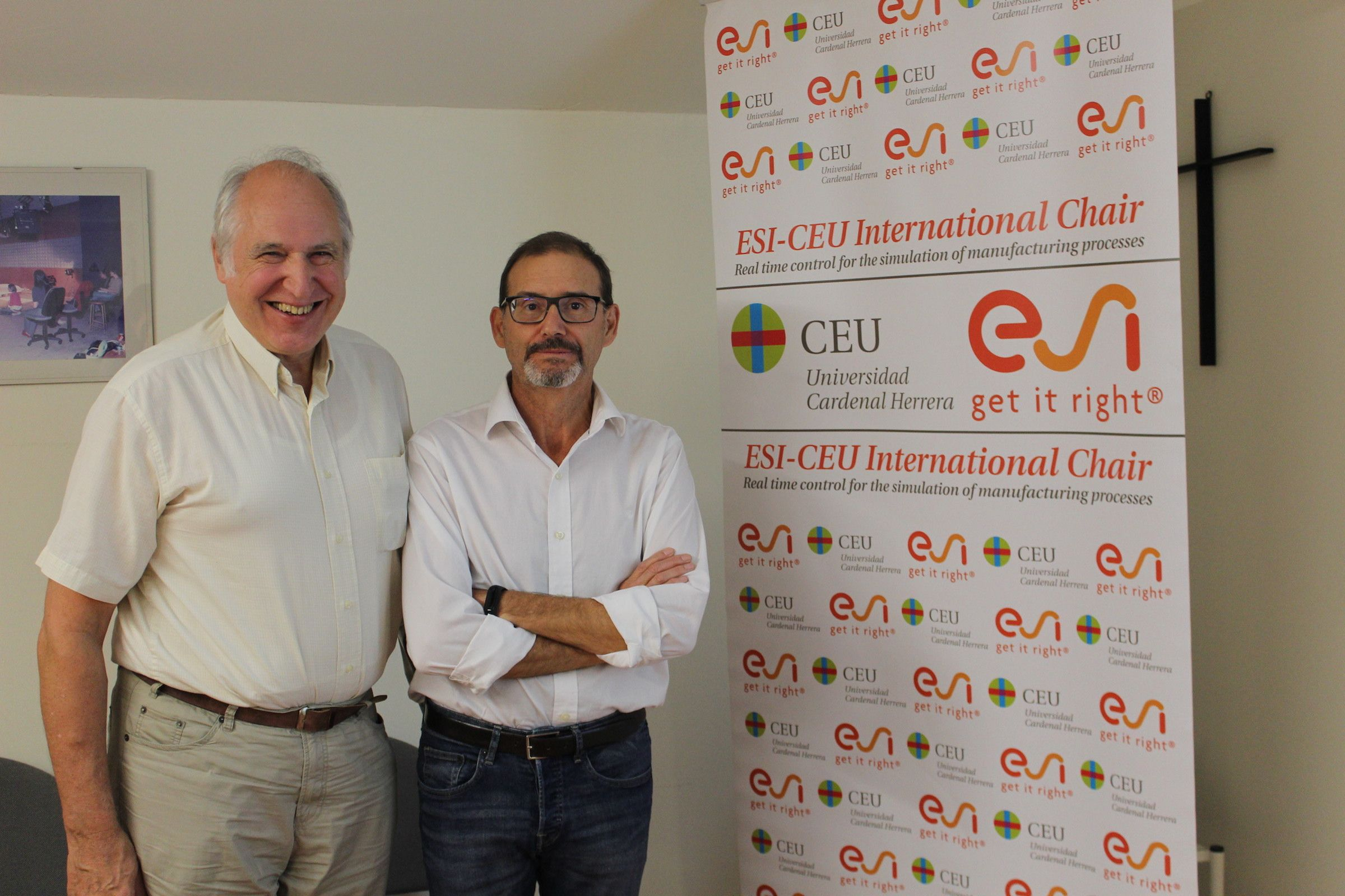 Hermann Matthies, director del Instituto de Ciencias Computacionales de la Universidad de Braunschweig y Antonio Falcó, director de la Cátedra Internacional ESI-CEU.