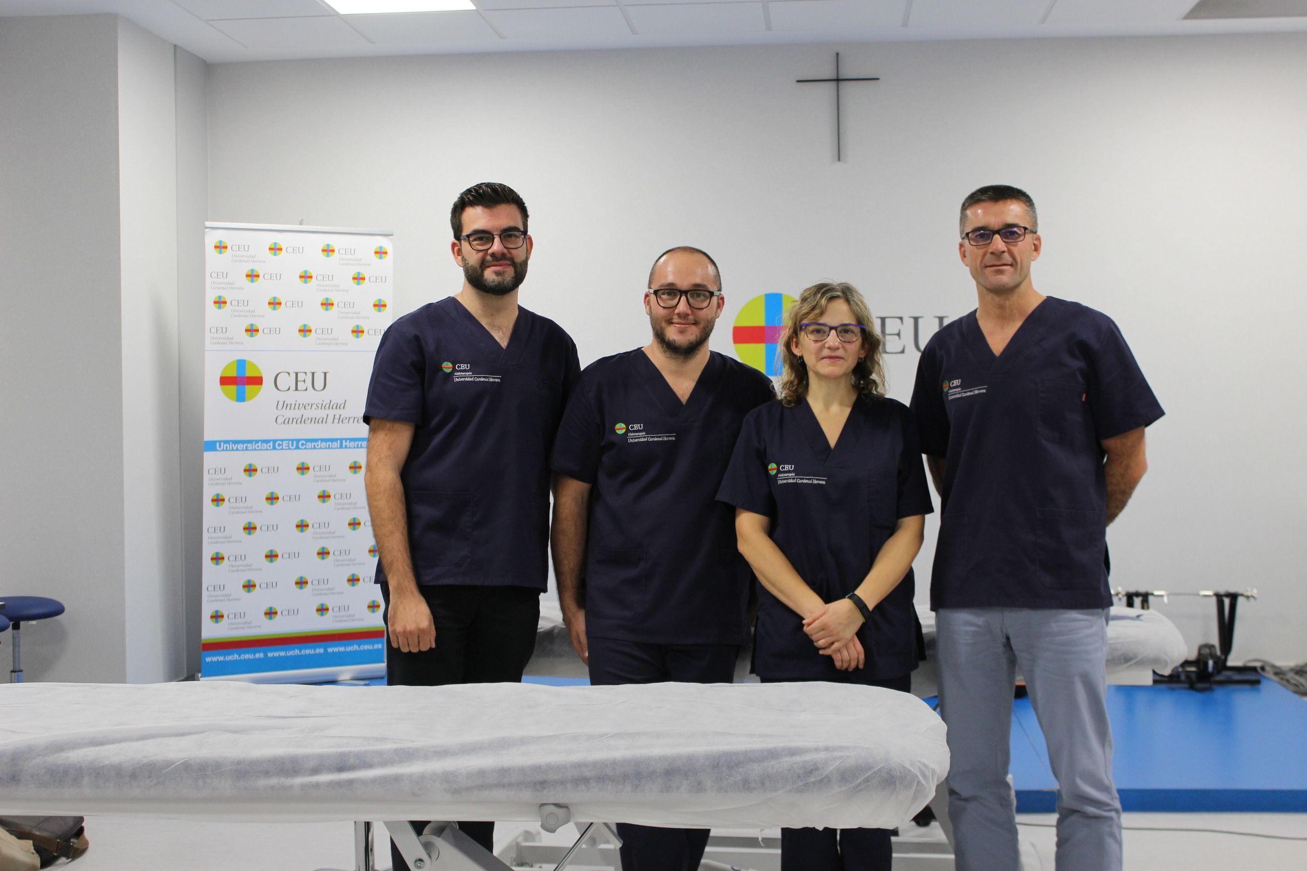 Miembros del Grupo en Fisioterapia para mejorar la calidad de vida, que lidera la doctora Eva Segura en la CEU UCH.