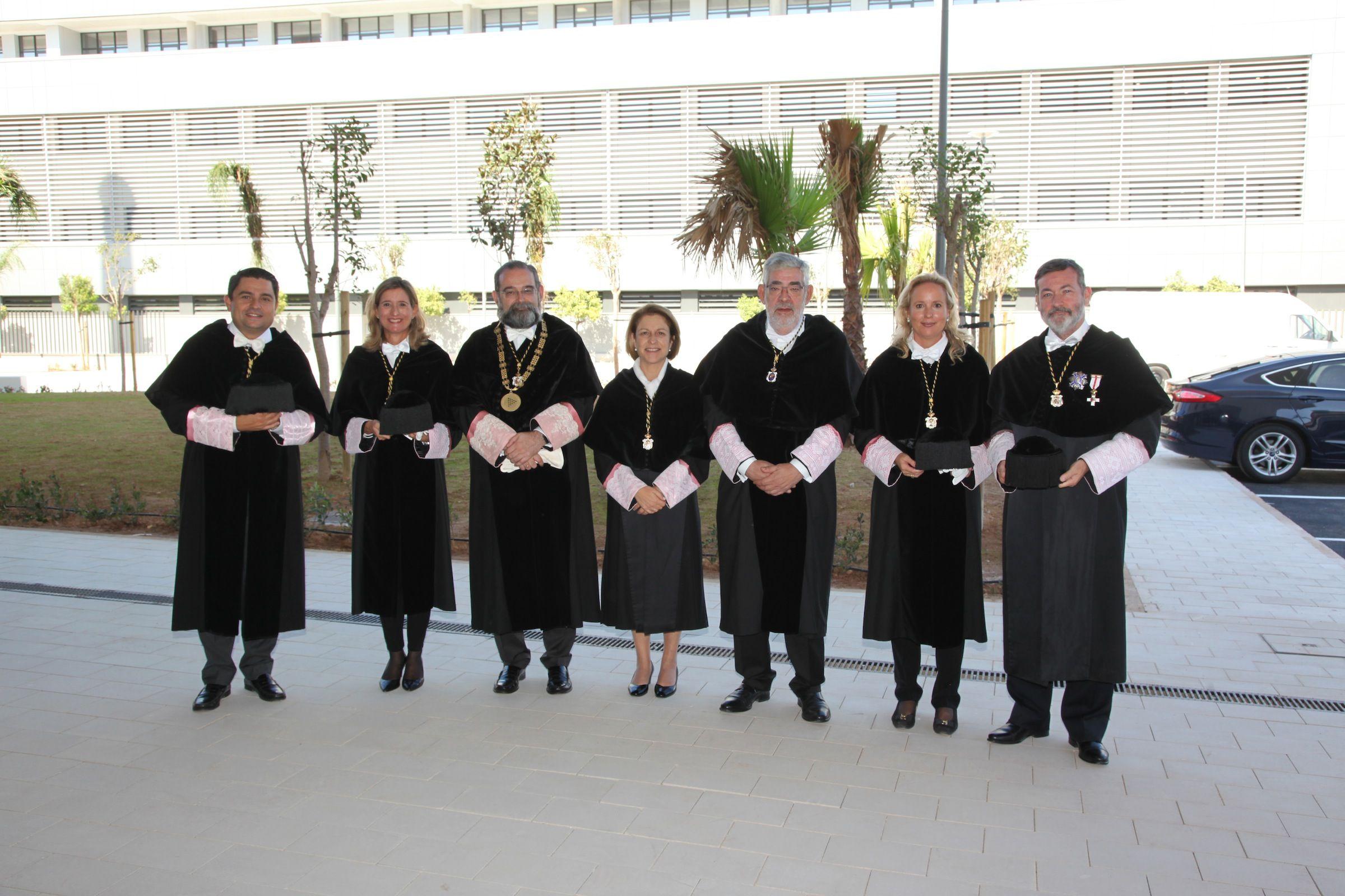 Los rectores asistentes al acto de apertura del curso 2019-20 en la CEU UCH.