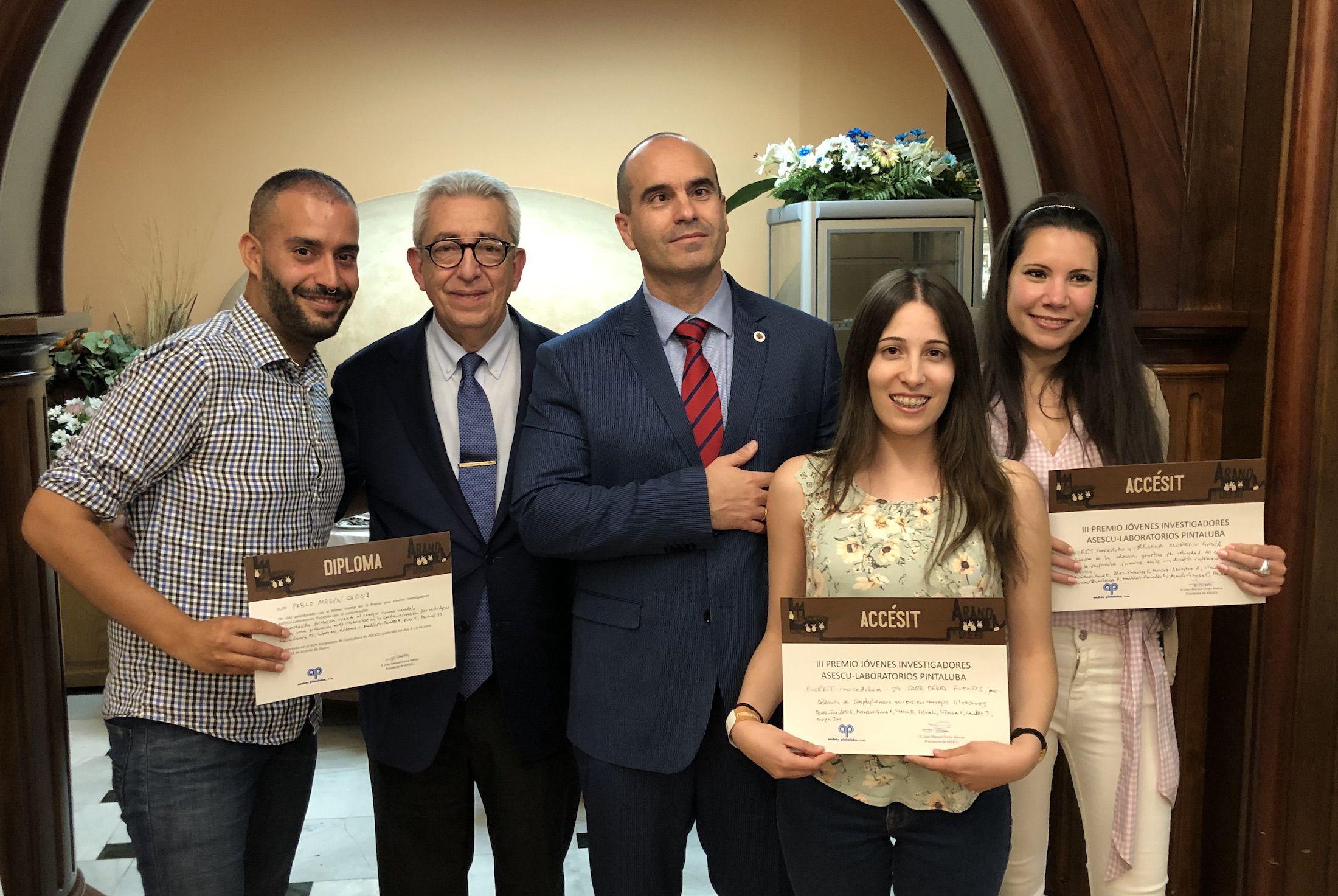 Premiados en en el 44º Symposium de la Asociación Española de Cunicultura ASESCU.