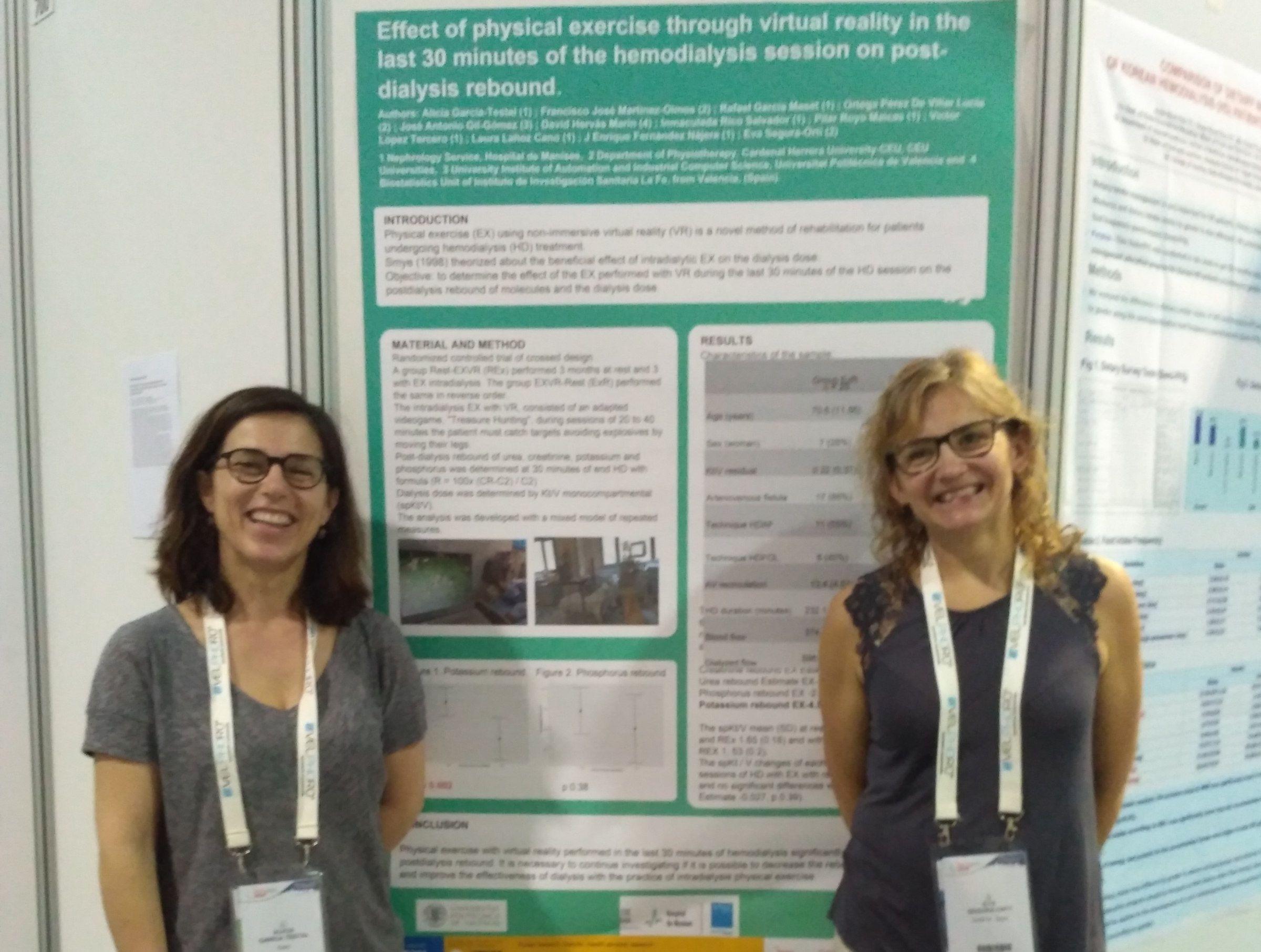 Las doctoras Alicia García Testal (Hospital de Manises) y Eva Segura (CEU UCH), únicas españolas en el monográfico internacional sobre ejercicio físico en pacientes renales de la editorial científica Wiley.