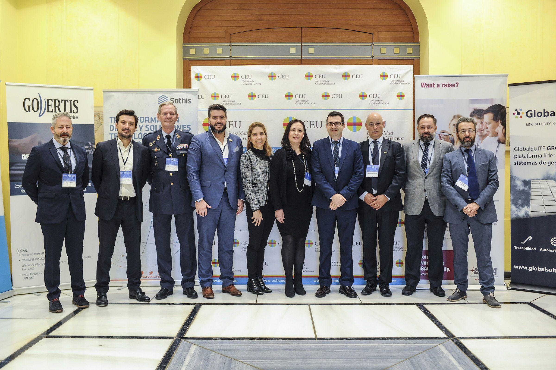 Organizadores y ponentes del XIII Congreso ISACA Valencia, organizado con la colaboración de la Universidad CEU Cardenal Herrera.