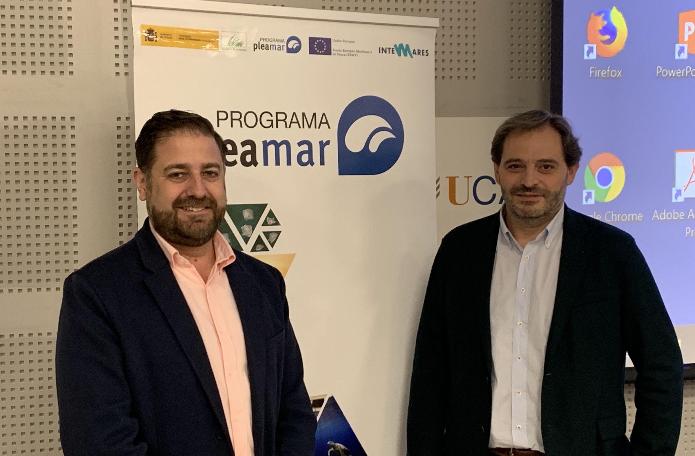 Jordi López y Jesús Cardells, en las jornadas del Programa pleamar, celebradas en la Universidad de Cádiz, donde han presentado el proyecto.