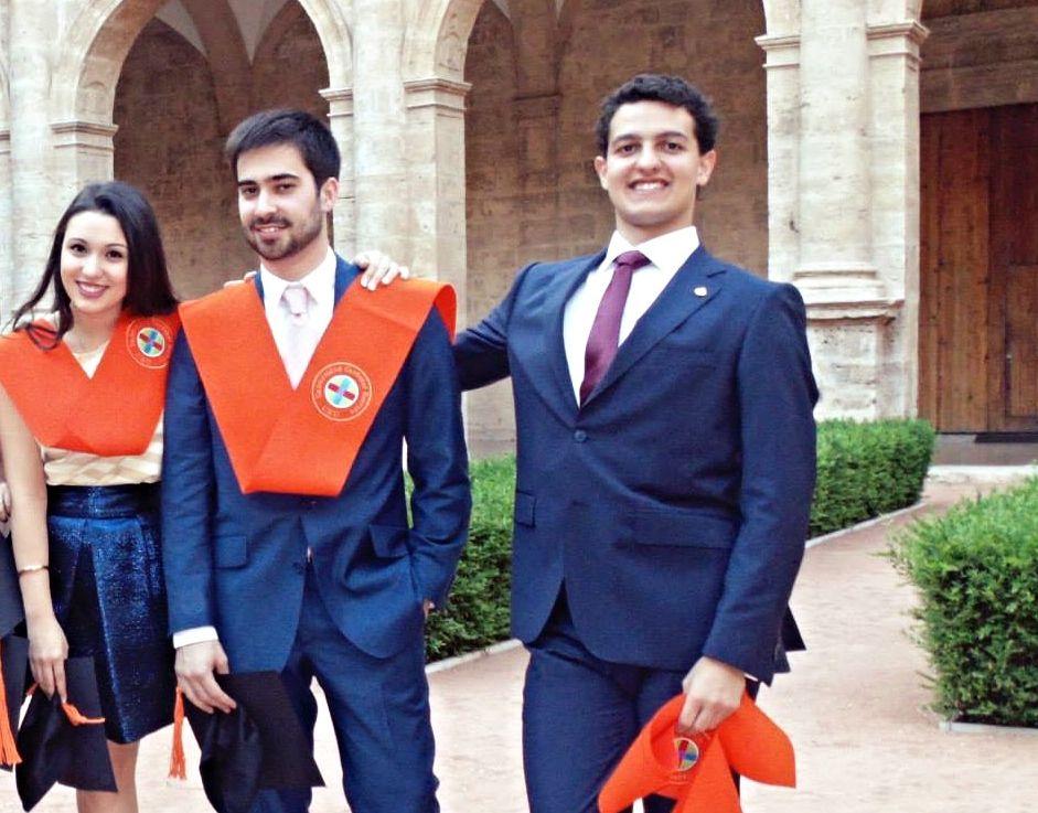 Daniel Torres, en el acto de graduación de su promoción de Ciencias Políticas de la CEU UCH, en 2015.