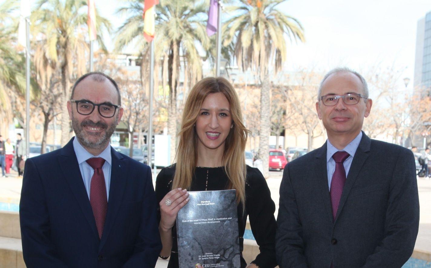 Los investigadores de la CEU UCH Ignacio Pérez, Pilar Madrigal y José Terrado, coautores junto a Begoña Ballester de la investigación en colaboración con la Universidad de Yale.