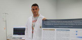 """Lluís Dols, graduado en Enfermería por la CEU-UCH de Castellón, presentará su investigación dirigida por la coordinadora del Grado, Isabel Almodóvar, en la Jornada """"Enfermeros por la Ciencia""""."""