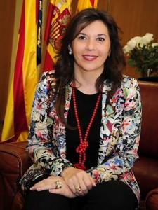 Mercedes Alonso, alcaldesa de Elche, en su despacho / Ayto. de Elche